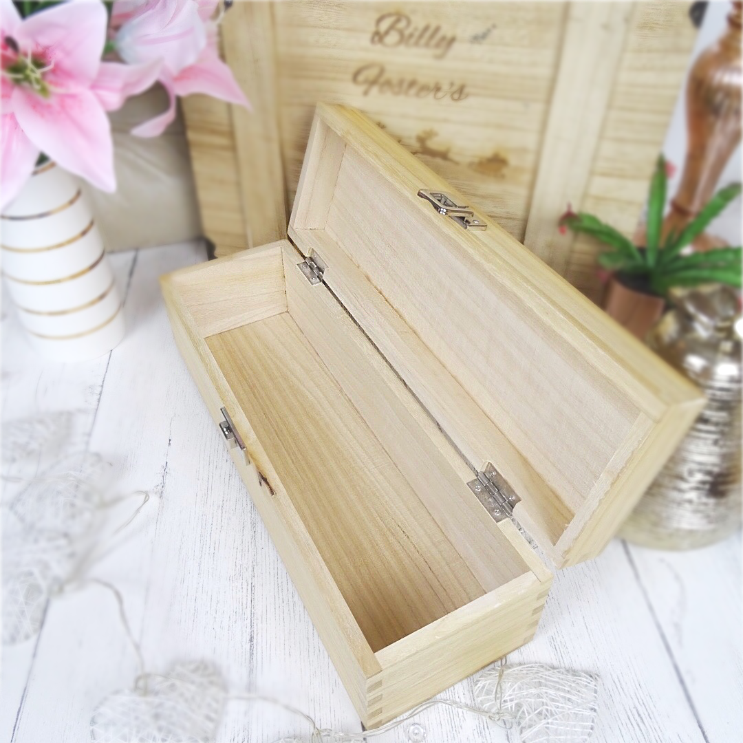 Personalised Wooden Champagne Gift Box Birthday Champagne is always the answer