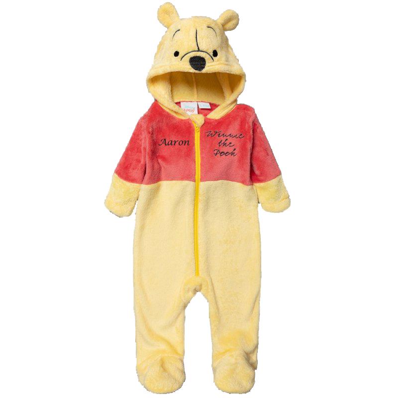 Personalised New baby pooh Initial sleepsuit newborn baby grow gift baby personalised romper